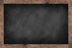 vintage chalk board texture with old vintage wooden frame background.use for work about design,decorate,business,education