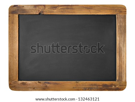 Vintage Chalkboard Isolated On White. Horizontal or Vertical alternative. Foto d'archivio ©