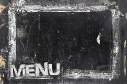 Vintage chalkboard menu free space for your copy. Weathered and distressed template. It can be used as a food menu, poster, wallpaper and more.