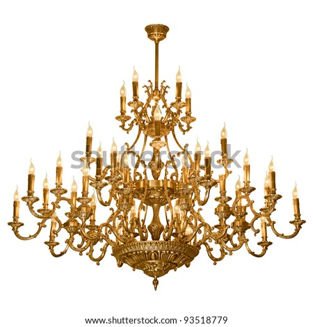 Vintage chandelier isolated on white background ez canvas vintage chandelier isolated on white background aloadofball Images