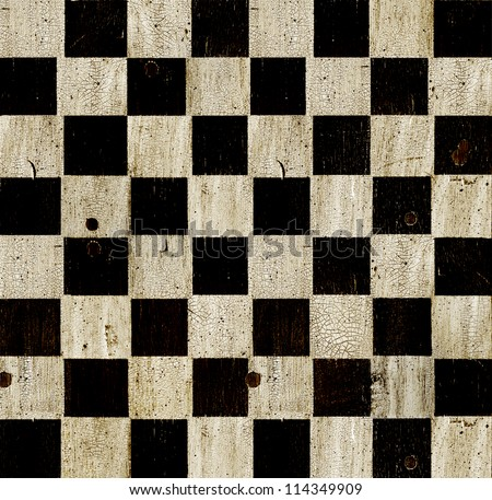 Vintage checkered chess board background.