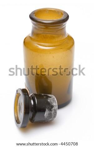 vintage chemical bottle, medical lab