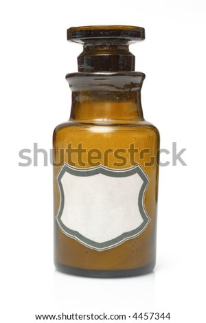 vintage chemical, medical laboratory bottle