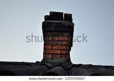 vintage chimney in the sky