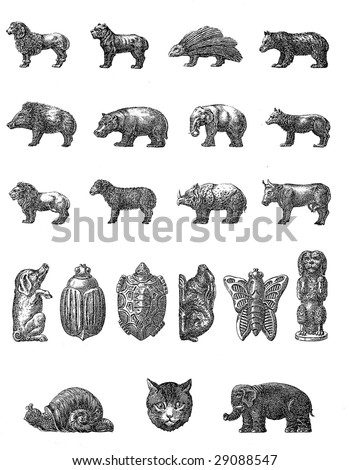 Vintage Chocolate Mold Sketches