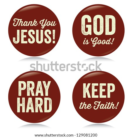 vintage christian buttons  red  ...