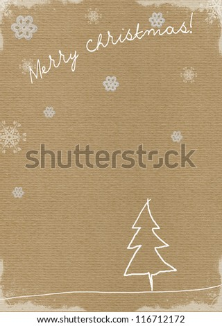 Vintage Christmas background illustration - stock photo