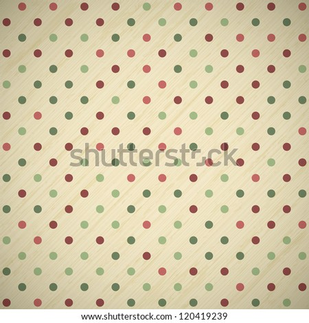 vintage christmas card background with polka dots, raster version