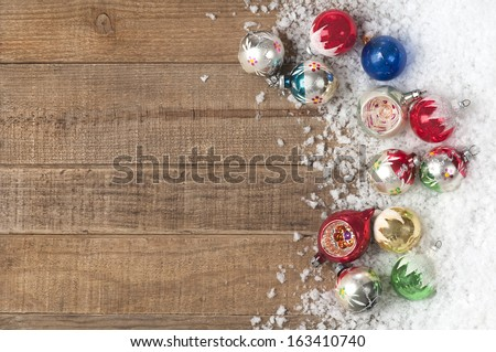 vintage christmas ornaments in...