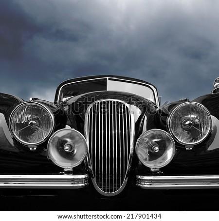 vintage classic car front view...
