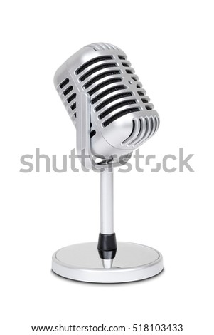 vintage classic microphone...