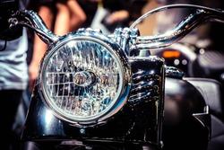 vintage classic Motorcycle headlight or head lamp