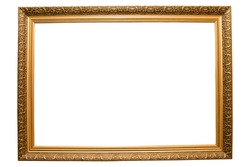 vintage classical wooden rectangle frame