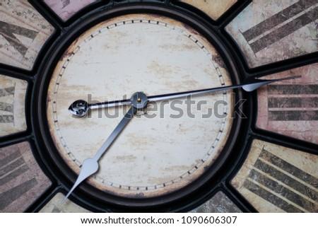Vintage clock closeup Stock foto ©