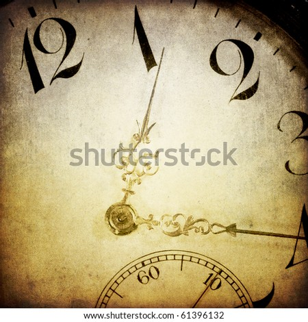 Vintage clock face. Abstract time theme background.