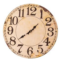 vintage clock isolated on white background