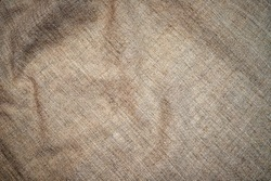 Vintage cloth texture background. Old  flax fabric Backdrop. Hemp tablecloth frame