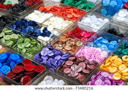 vintage clothes buttons with variety color on sell in market