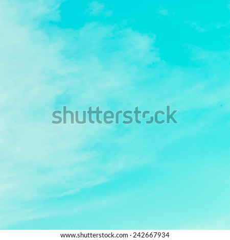 Vintage cloud on blue sky - Vintage effect style pictures #242667934