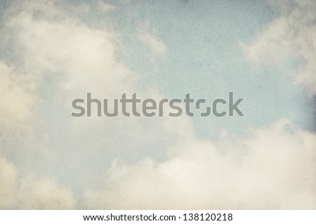 Vintage cloudy background, Watercolor background