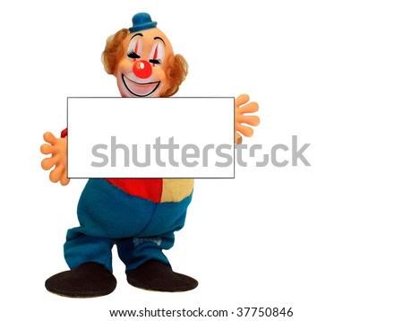 Vintage Clown 2 with Placard