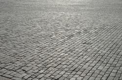 Vintage cobblestone pavement