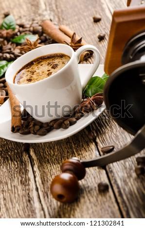 Vintage coffee - stock photo