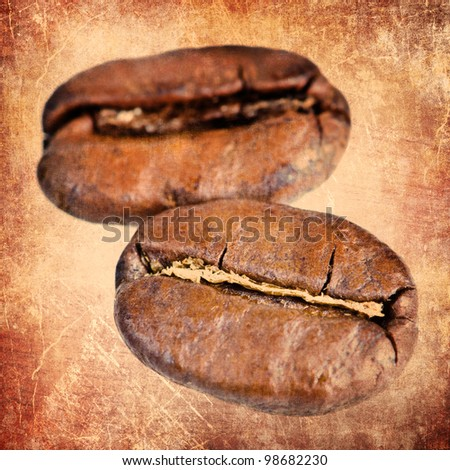 Vintage coffee beans background