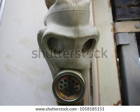 Vintage Cold War era Soviet gas mask.