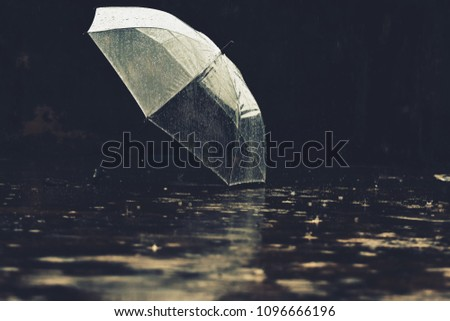 Vintage Color umbrella rain  #1096666196