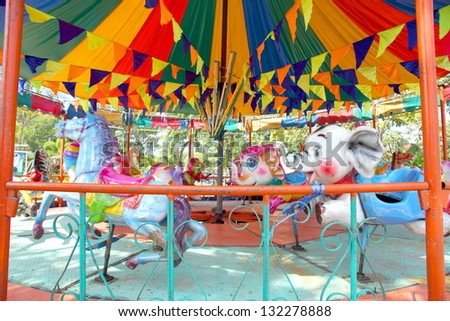 Vintage colorful  carousel