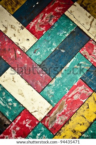 Vintage colorful wooden wall background.