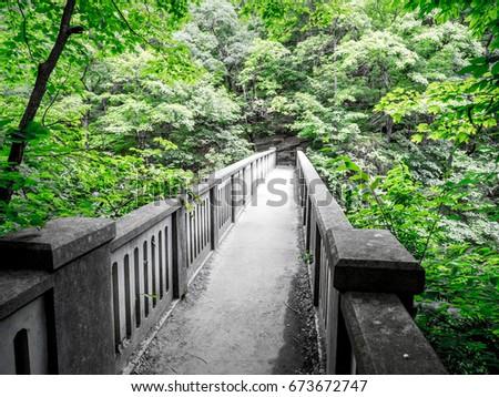 vintage concrete foot bridge...