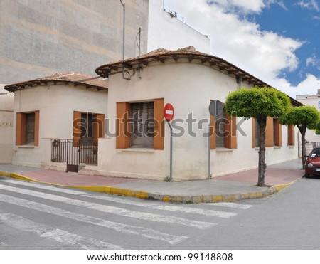 Vintage Corner Mediterranean Style Bungalow Home In Spain