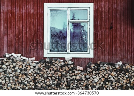 vintage country home window and ...