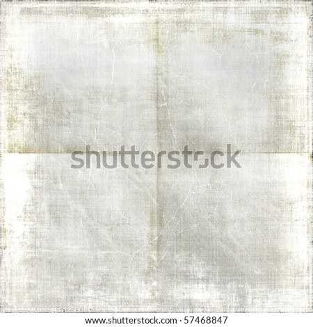 Vintage Creased White Faded Paper