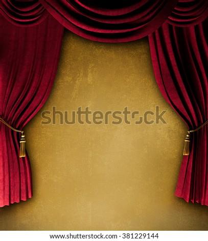vintage curtains background