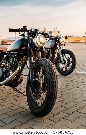 vintage custom motorcycle...