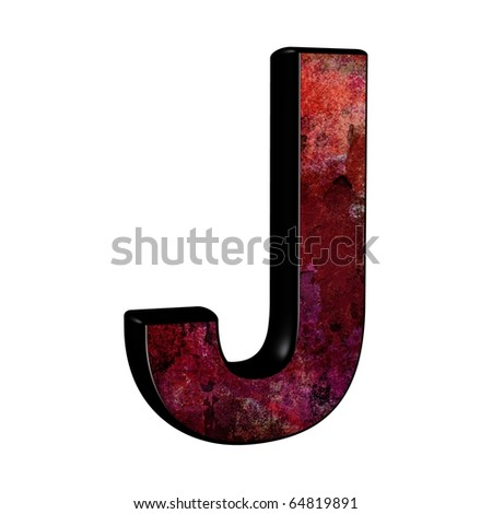 Whore........ Nothing vintage letter j with the