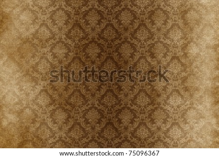 Vintage damask background wallpaper