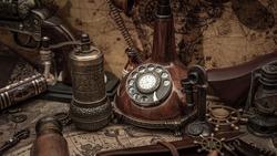 Vintage Desk Telephone Old Collection