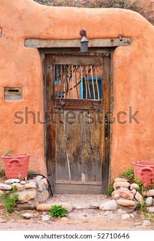 Vintage door in Santa Fe, New Mexico