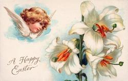 Vintage Easter Greeting Illustration, circa 1910