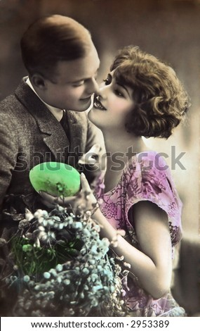 Vintage Easter lovers