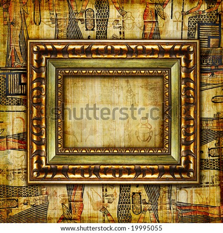 vintage egyptian background with frame