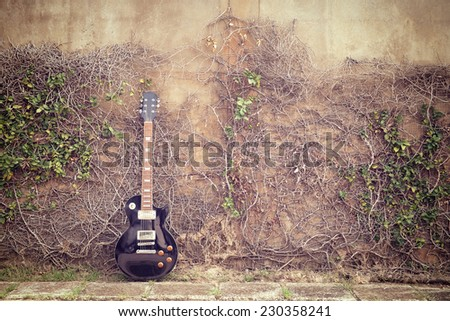 vintage electric guitar and...