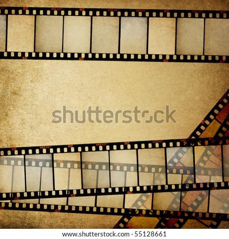 Vintage empty positive films background with space for text.