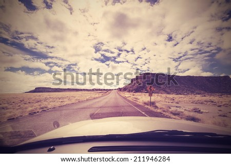 vintage endless road  photo...