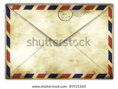 Vintage envelope back side with italiane stamps