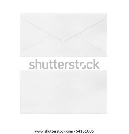 Vintage Envelope  on white.